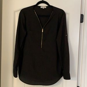 Calvin Klein Black Long Sleeve Top